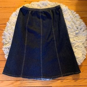 Denim & co. Denim modest skirt elastic waist